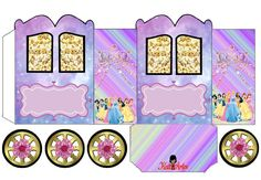 Disney Princess Carriage Shaped Free Printable Box.