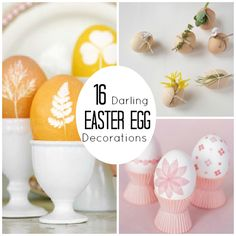 So many unique ways to decorate Easter eggs here!