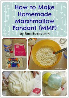 How to Make Homemade marshmallow fondant.
