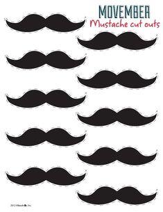 Free mustache printable