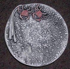Round Crab Porcelain Dish. Hand made in Washington state. $24