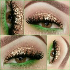Bh cosmetics 120 first edition palette, gold glitter from sinful colors lashes are CREME 138 & 62 - @makeupby_mars