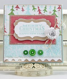 I made this Christmas card using MFT Seasonal Sentiments along with Die-namics dies.  Thanks for looking :)
