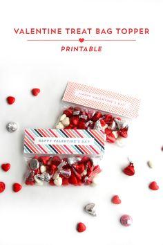 Valentine's Day Treat Bag Toppers // Printable Download // Postmark Studios