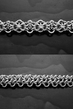"""Tweek Chain, originally created by Louis Bracht. 3 in 1 chain, very small AR rings (16 swg 5/32"""" id). chain maill, chainmaill"""