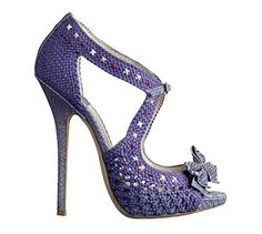 Christian Dior christians, fashion, crochet shoes, style, purple, christian dior, dior shoe, high heel, heels