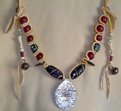 Fur Trade Mountain Man Necklace with Trade Beads of First Primitive Rendezvous Horse Creek Wyoming 1834
