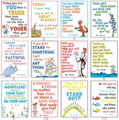 Pack of ALL 24 Dr. Seuss LDS Youth posters YW Camp by MomoPrints, $25.00