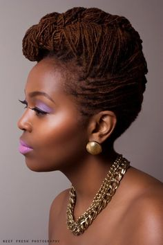 Updo roll. #locs #naturalhair