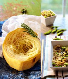 Spaghetti Squash Sesame Noodles with Edamame Recipe on FamilyFreshCooking.com