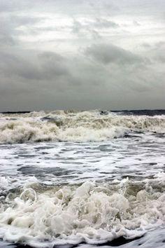 the foaming sea