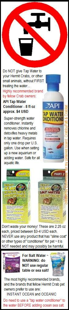 images with info: Tap Water Conditioner & sea salt