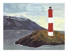 Lighthouse Print por smalladventure