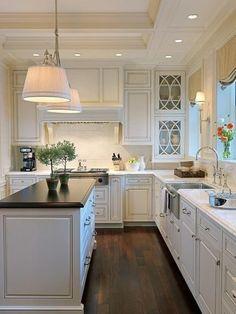 Cabinets (love the right corner glass cabinet)