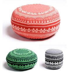 sweater poufs