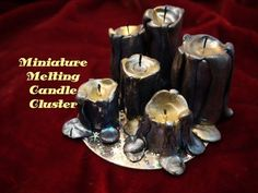 DIY: Miniature Melting Candle Cluster With Polymer Clay - YouTube