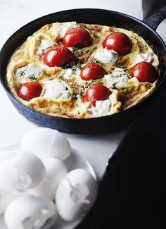 fresh thyme, suvi sur, tomato, breakfast, frittatas