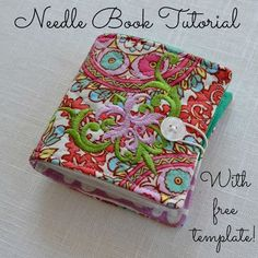 Needle Book Tutorial~With Free Template! ... includes a pocket for scissors. Get the tutorial at ~ The Domestic Doozie: