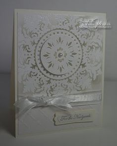 pop up wedding cards, medallion stamp, christma, medallion card
