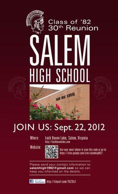 Salem High School Class of 1982 Reunion. Sept. 22, 2012.