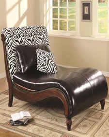Zebra print on pinterest zebra bedding zebra print for Animal print chaise lounge furniture