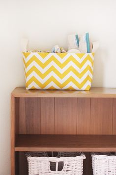 very cool divided fabric basket by noodlehead