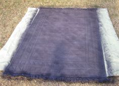 How to dye a rug (find cheap one on sale and dye to match room color scheme)