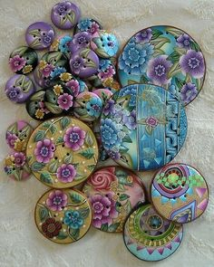 Buttons - polymer | Flickr - Photo Sharing!  Love the blue by cathy
