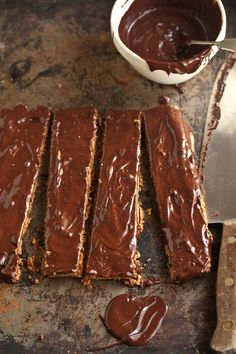 almond biscuit bars with chocolate