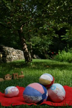 Fabric BeachBalls - The Purl Bee - Knitting Crochet Sewing Embroidery Crafts Patterns and Ideas!