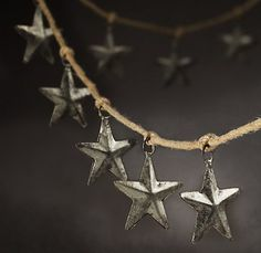 rustic star garland...