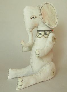 Jointed Muslin Elephant Toy