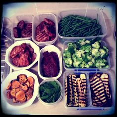 Fail to plan and you plan to fail!  Weekly clean eating food prep - abs are made in the kitchen so it is important to have delicious, healthy meals ready to grab. A must have for great nutrition, fat loss and overall feeling damn good!