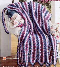 """Mile-A-Minute Afghan LW1182    Afghan measures approximately 45"""" x 66""""."""