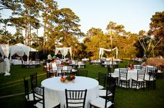 Nothing like an open sky and a starry night to set the stage for an unforgettable event! [WaterColor Inn & Resort]