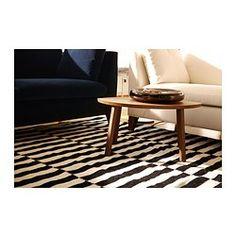 STOCKHOLM Rug, flatwoven, black stripe black, off-white - stripe black/off-white - IKEA