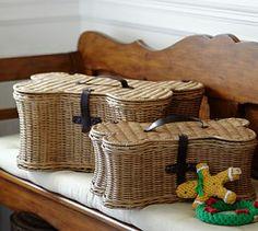 Doggie Toy Basket #Pottery Barn