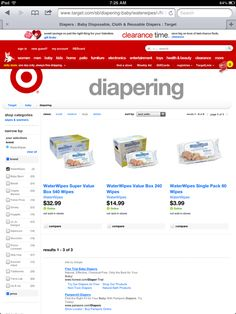 WaterWipes are now available at Target.com!