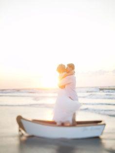 boat + couple + amazing light