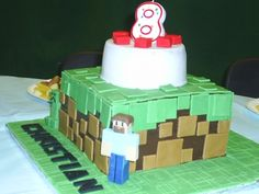 MINECRAFT CAKE By MamaD77 on CakeCentral.com