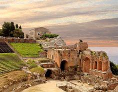 Ancient theatre in Taormina - Messina - Sicily