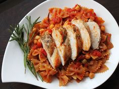 Skillet Whole Wheat Pasta with Chicken and Chickpeas | Serious Eats : Recipes