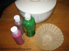 Salad Spinner Craft for kids!