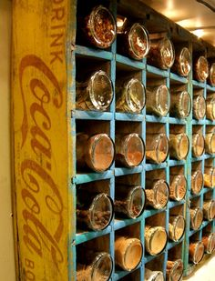 make an old coke crate a spice rack