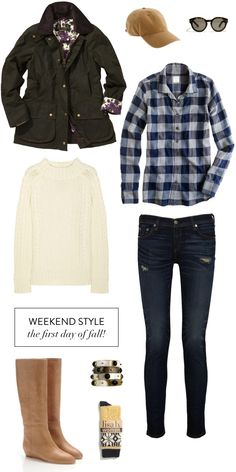 Weekend Style --> Fall Fashion!    #fall #fashion #autumn #clothes #style #plaid #jcrew