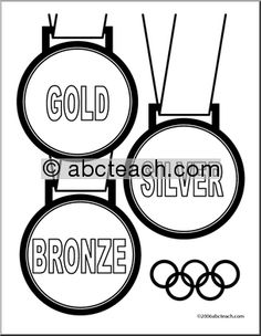 Medal Coloring Page