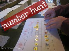 number hunt 2.0: hide, seek, and name numbers! #weteach