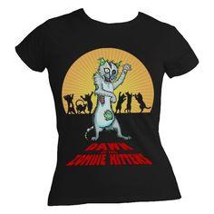 black tshirt, kitten shirt, dawn, men black, kittens, zombi kitten, kitten tshirt, kitten men, thing zombi