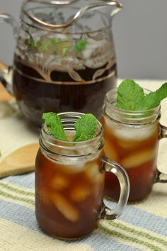 Mint Sweet Tea for Labor Day #SundaySupper - Supper for a Steal
