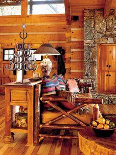Living Room - Smoky Mountain Retreat - MyHomeIdeas.com